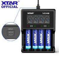 XTAR-cargador rápido de batería QC3.0 VC4S, para pilas AAA recargables, 18650, 26650, 21700, 18350, 3,7, 1,2 V, NiMH