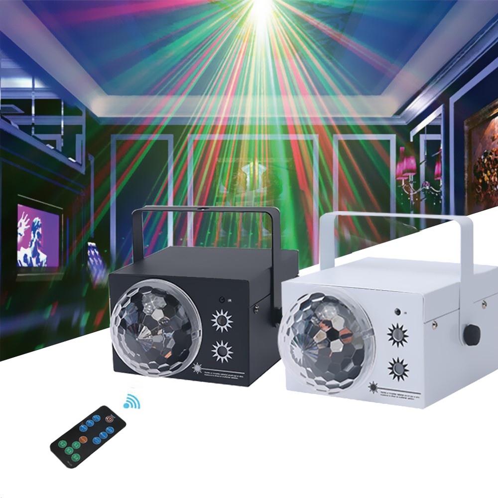 64 In 1 RGB Christmas LED Projector DJ Laser Stage Light Effect Disco Spherical Lights With Remote Control Party Lamp