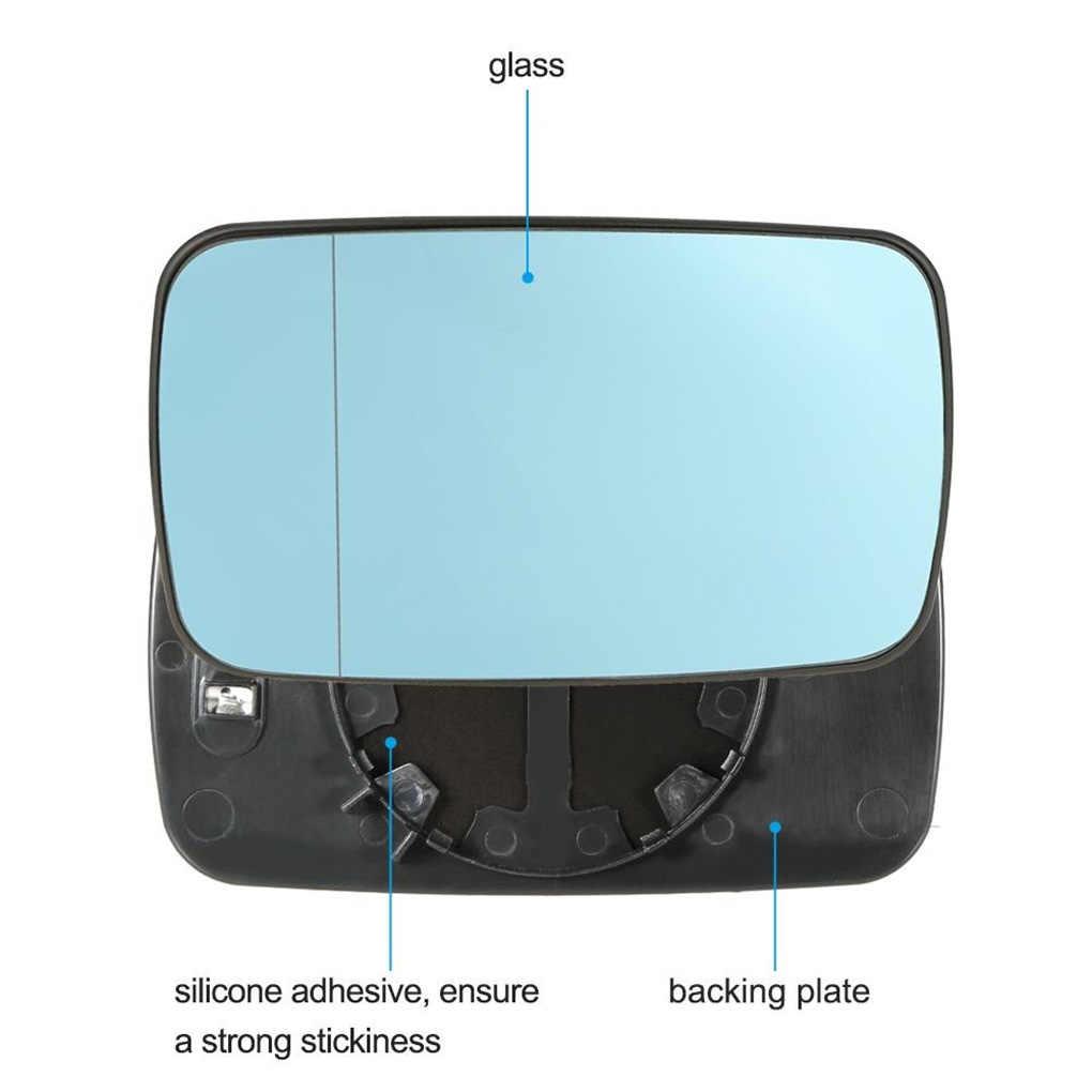 1 Pasang Penggantian untuk BMW E46 Biru Kiri Kanan Mobil Kaca Dipanaskan Spion Kaca 51168250438