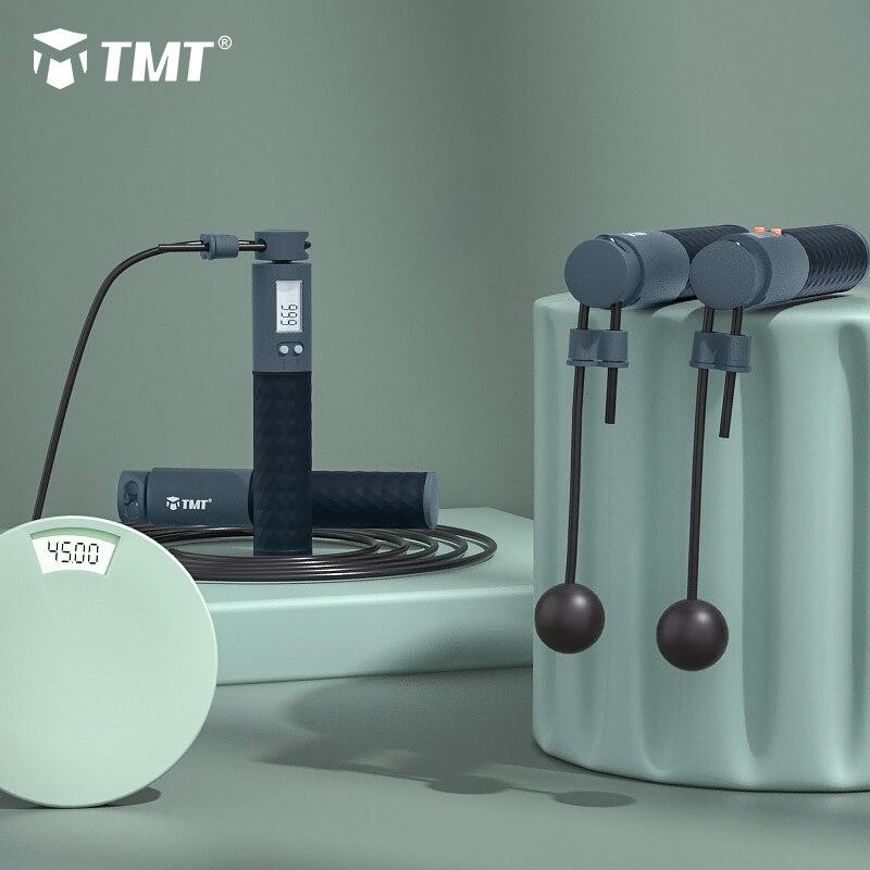 Электронная Беспроводная Скакалка TMT, скоростная скакалка, нескользящая ручка для тренировок, бокса, регулируемый провод, 3 м