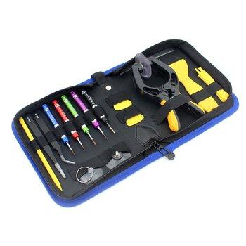 JF-8148 19 w 1 uniwersalny narzędzie do naprawy telefonów zestaw z torbą naprawa telefonu komórkowego narzędzie do naprawy telefonów zestawy narzędzi dla narzędzia do naprawy telefonów tanie i dobre opinie High carbon steel Phone Repair Tools