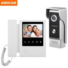 4.3 אינץ Wired וידאו דלת טלפון מערכת אינטרקום חזותי פעמון עם IR לילה Vison 700TVL חיצוני מצלמה למעקב בבית
