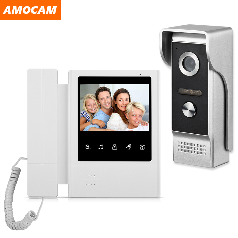 4.3 Inch Wired Video Door Phone System Visual Intercom Doorbell With IR Night Vison 700TVL Outdoor Camera For Home Surveillance