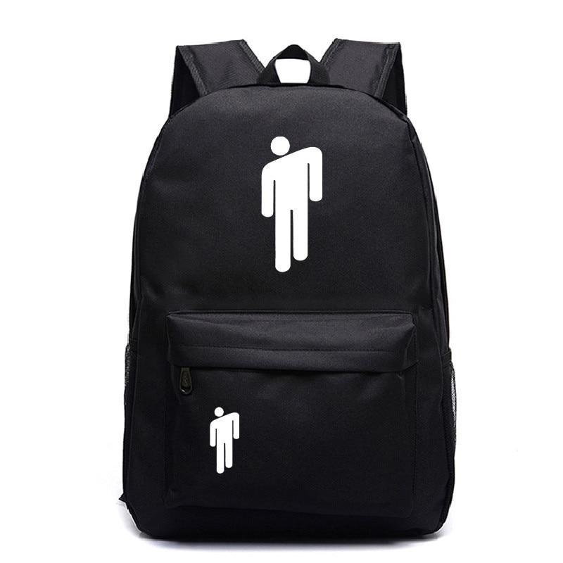 Billie Eilish Fashion Backpacks Women Eyes School Bags Laptop Travel Bags Teenage Notebook Backpack Nylon Bag