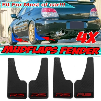 Carbon Fiber Look 4x Universal Car Mud Flaps Splash Guards Mudflaps Fender Flares For BMW E39 E46 E53 E90 E92 E93 E60 E61 X5 E70 image