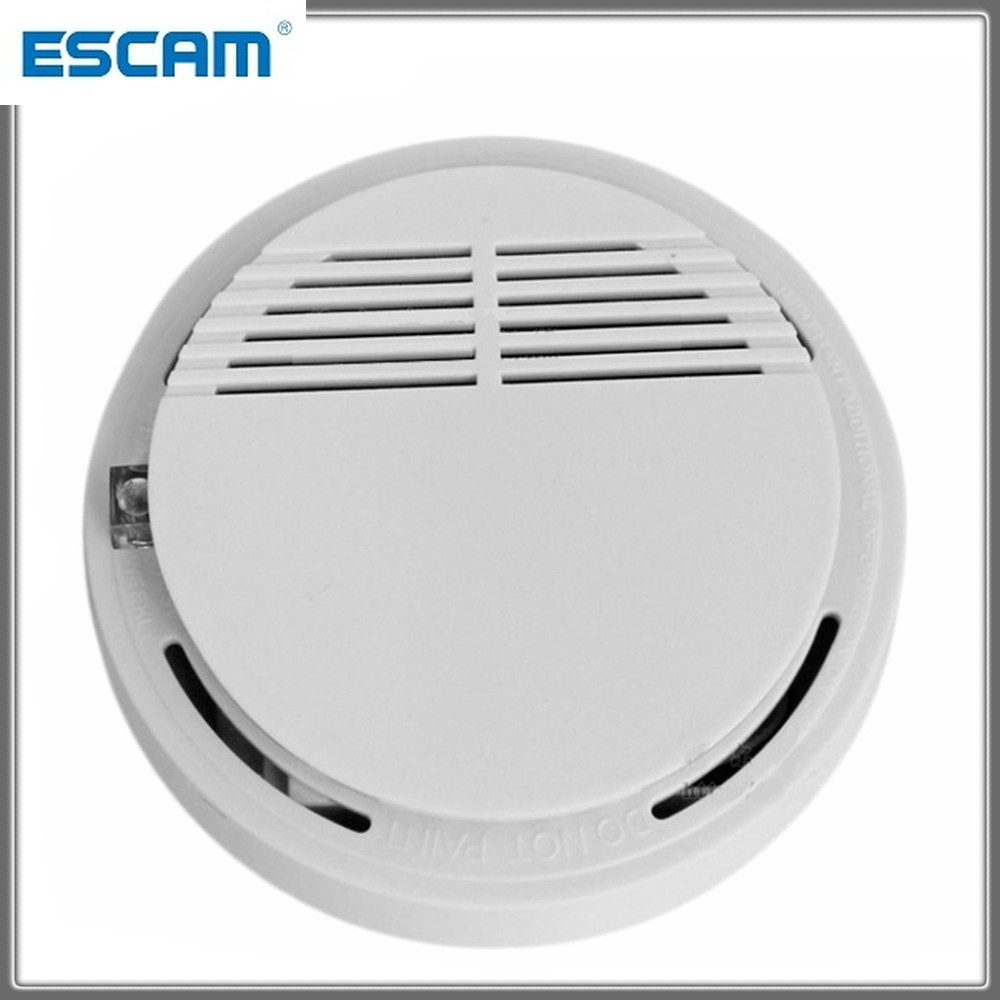 2pcs High Sensitive Smoke Sensor Detector Photoelectric Home