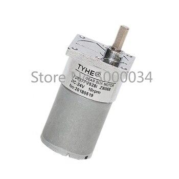 Хорошая цена миниатюрный 37 мм Диаметр 12 в 24 в 1500 об/мин с высоким крутящим моментом 27720 редукторный двигатель постоянного тока для оптового р...