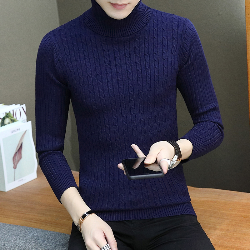 Men's Clothing ... Sweaters ... 32794684806 ... 2 ... (7 colors) high quality men's pullover 2019 new fashion round neck striped winter sweater men's brand pullover casual sweaters ...