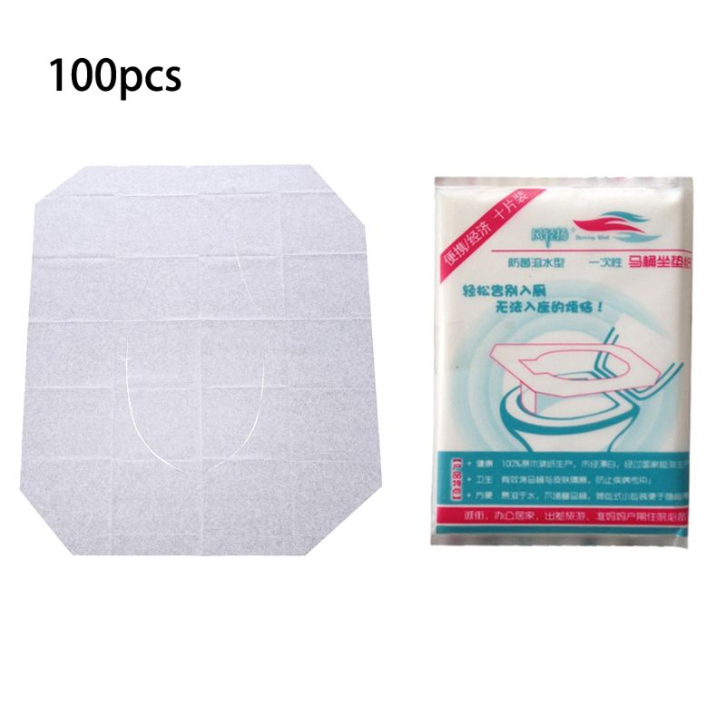 Portable Disposable Paper Toilet Seat Covers For Travel,Waterproof Antimicrobial Maternal Disposable Toilet Mat