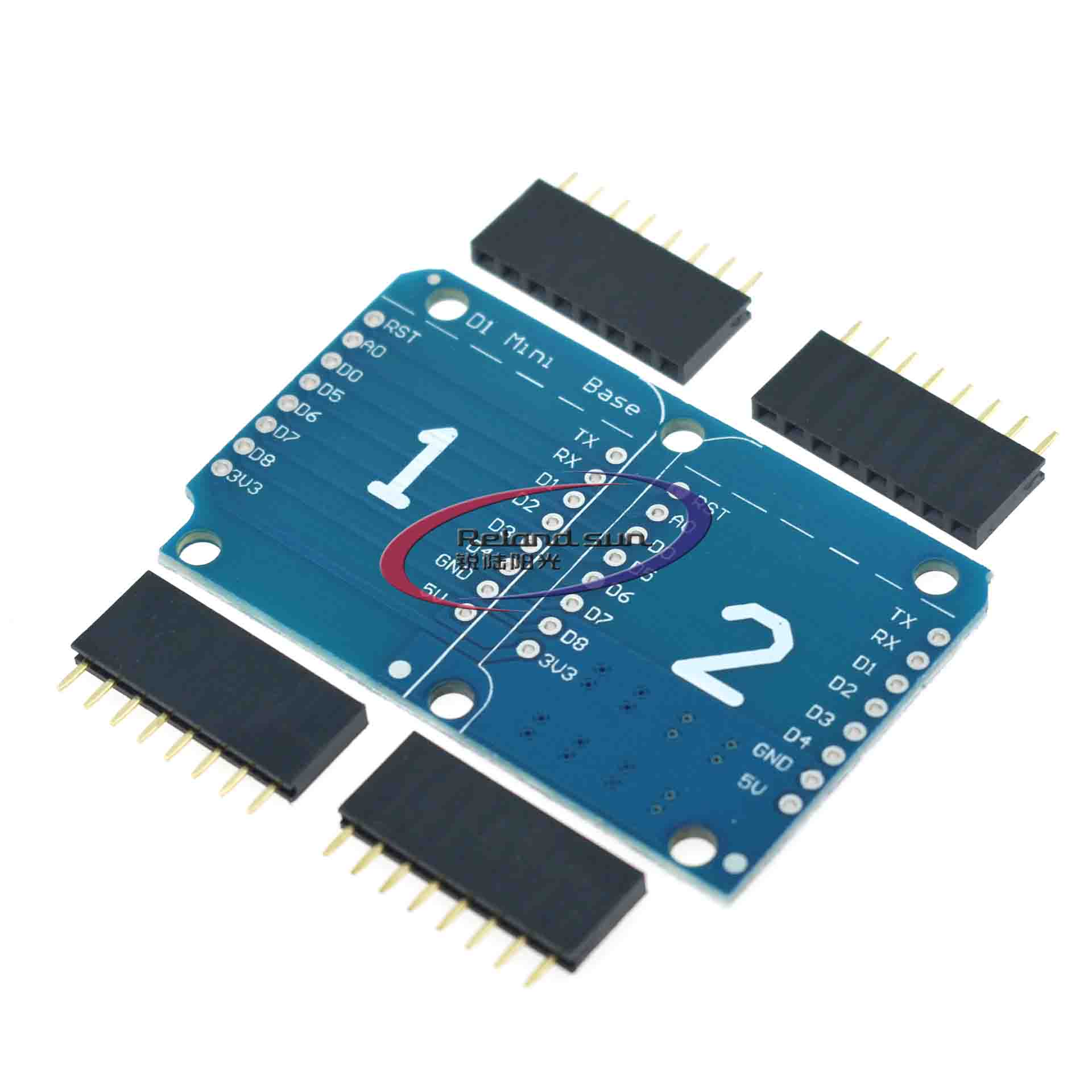 Double Socket Dual Base Shield for WeMos D1 Mini NodeMCU <font><b>ESP8266</b></font> For Arduino <font><b>Expansion</b></font> <font><b>Board</b></font> image