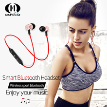 Bluetooth Headset Metal Magnetic Absorption Earplug Type Motion Bilateral Stereo Single and Double Ears