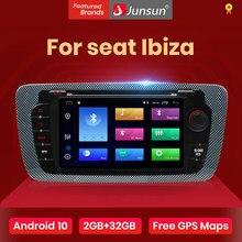 Junsun Android 10.0 voiture DVD Radio pour siège Ibiza 6j 2009 2010 2012 2013 GPS Navigation 2 Din écran radio Audio lecteur multimédia