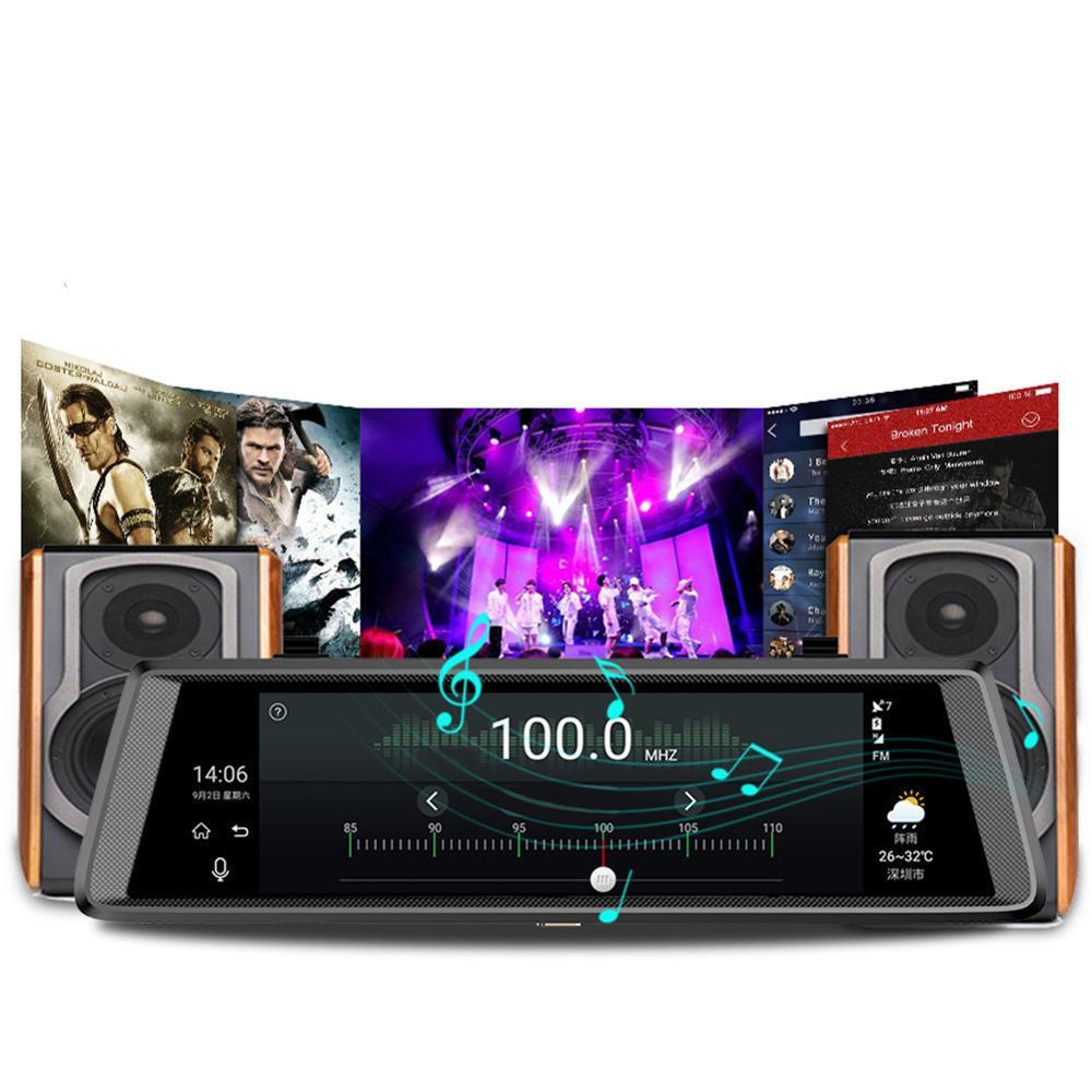 Dash Cam V6 Android 5.0 Auto dvr FHD 1080P 3G Spiegel Dashcam GPS Auto DVR 10 Auto Dvrs rück Auto Kamera Fahren Recorder Video - 2