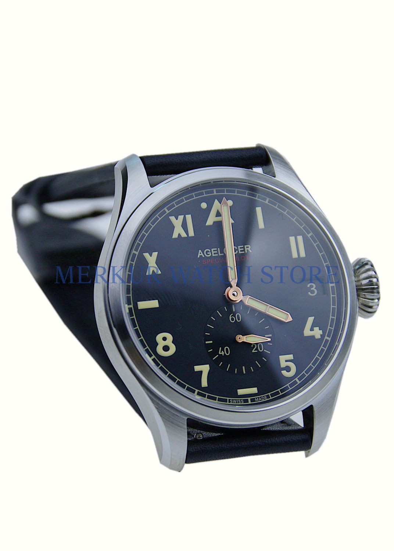 AGELOCER Caliber.A 3350 Mechanical Automatic Movement Pilot Luxury Wristwatch Big Date