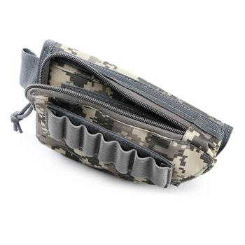 tactical buttstock shotgun rifle stock ammo portable pouch shell cartridge holder pouch holder cheek leather pad Tactical Buttstock Cheek Rest Shell Ammo Pouch 12GA 12 Gauge Bullet Cartridge Holder Hunting Accessories Gun Rifle Stock Pouch