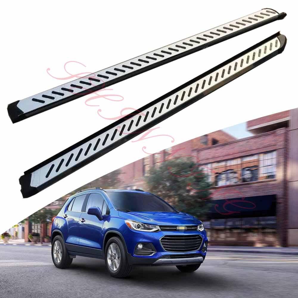 Otomobiller ve Motosikletler'ten Araç Çubukları ve Basamaklar'de KINGCHER Fit Chevrolet Trax 2013 2020 için koşu panoları yan adım Nerf Bar alüminyum title=