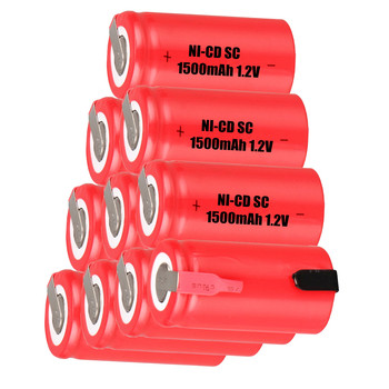 10 pcs SC 1500mah 1.2v battery NICD rechargeable batteries for makita bosch B&D Hitachi metabo dewalt for electric screwdriver