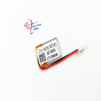 JST XH 2.54mm 3.7V 300MAH 702025 Lithium Polymer LiPo Rechargeable Battery For Mp3 headphone PAD DVD bluetooth camera image