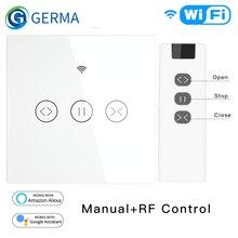 Rf Wifi Smart Touch Gordijn Jaloezieën Rolluik Schakelaar Tuya Smart Leven App Afstandsbediening, werken Met Alexa Echo Google Thuis