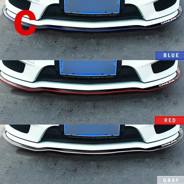2.5M Front Car Bumper Protector Rubber Car Protector Front Bumper Guards Lip Mouldings Splitter Chin Body Auto Bumper Exterior