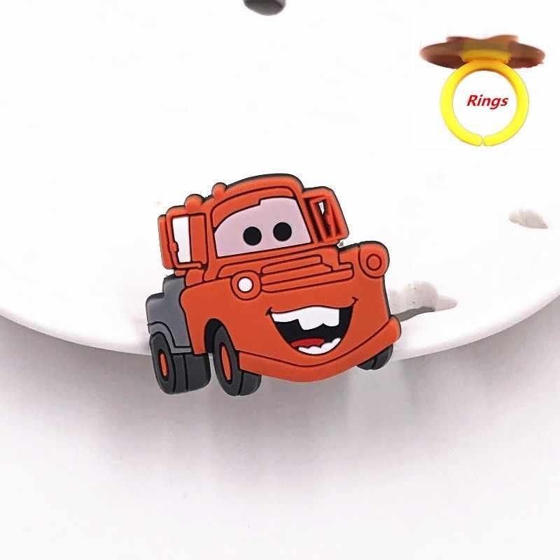 1 pçs dos desenhos animados anime carro vermelho hudson mater personagem anel de silicone anéis de dedo para o bebê macio jewerly acessórios do miúdo trinket presentes