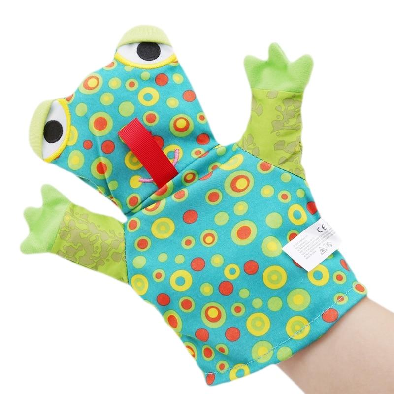 1pcs Baby Clean Bath Hand Puppet / Bath Rub / Saliva Towel Glove Towel Cartoon Animal Lion Frog Elephant Bath Glove Sponge
