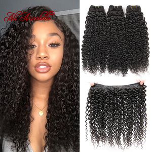 Image 5 - ALI ANNABELLE HAIR Brazilian Kinky Curly Hair 100% Human Hair Weave Bundles 1/3/4 Pieces Natural Color Remy Curly Hair Bundles