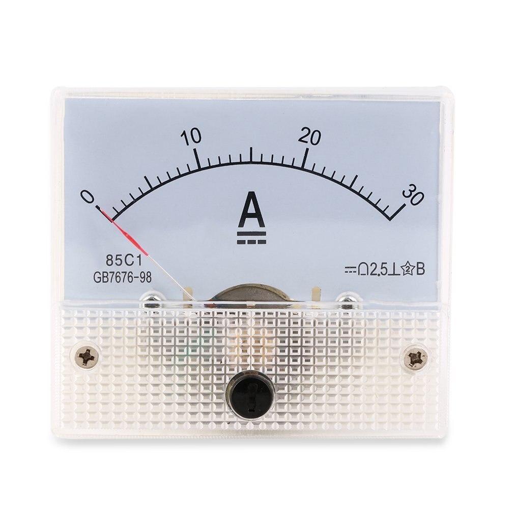 Горячий Поиск DC 30A Аналоговый Амперметр Панель AMP измеритель тока 0-30A DC не нужно шунт Новый