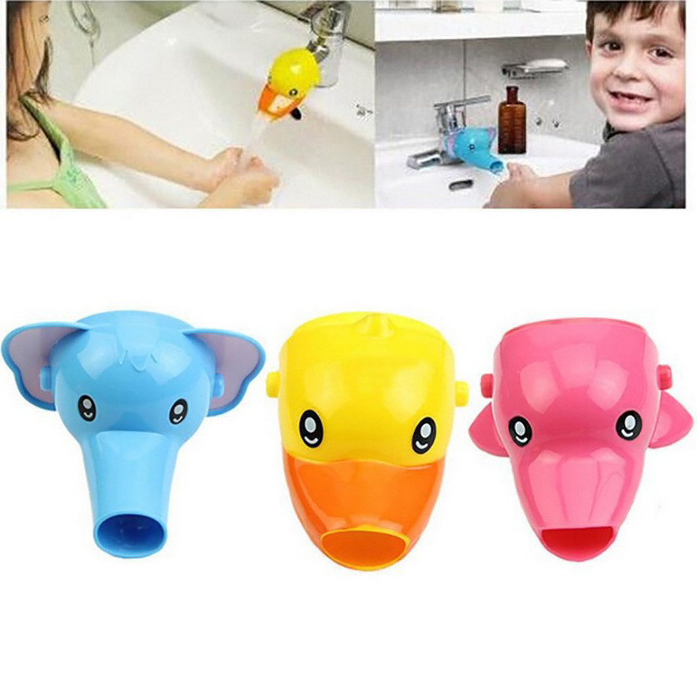Cartoon Faucet Extender Sink Handle Extension Toddler Kid Bathroom Children Hand Wash Water Saver Faucet Kitchen Accessory