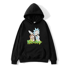 Casual men New Design Rick and morty Men pullover Cotton Funny Print Hoodie skateboard  Man Fashion Sweatshirt sudaderas