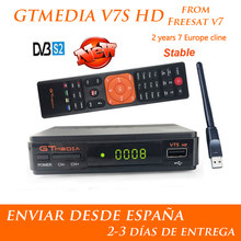 Hot DVB-S2 Freesat V7 Hd Met Usb Wifi Fta Tv-ontvanger Gtmedia V7s Hd Power Door Freesat Ondersteuning Europa Cline netwerk Delen(China)