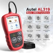 Autel Автоссылка AL319 OBD2 считыватель кодов DIY Автомобильный сканер OBD автоматический диагностический инструмент Automotriz считывание и стирание кода pk AD310 ELM327