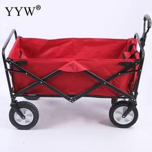Home Garden Trolley Cart Forklift 4 Wheel Foldable Wagon Han