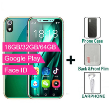 Смартфон Super Mini 4G, телефон с идентификацией по лицу I9S, 16 ГБ/32 ГБ/64 Гб ПЗУ, Android, сотовый телефон с Wi Fi, Google Play, наименьший размер для студентов