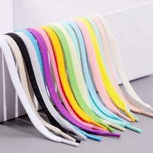 1 paire 26 couleurs 4 longueurs AF1 lacets chaussure blanc cassé élasticité lacets plats chaussures de Sport lacets Offwhite lacets accessoires