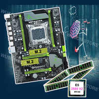 Quality desktop hardware supplier HUANAN ZHI X79 motherboard with M.2 slot RAM 16G(4*4G) DDR3 RECC CPU Xeon E5 2680 V2 2.8GHz