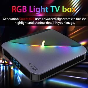 Image 5 - TV Box A95X F3, Android 9,0, 8K, con luz RGB, Amlogic S905X3, 4GB, 64GB, wi fi Dual, 4K, 60fps, Youtube, reproductor multimedia