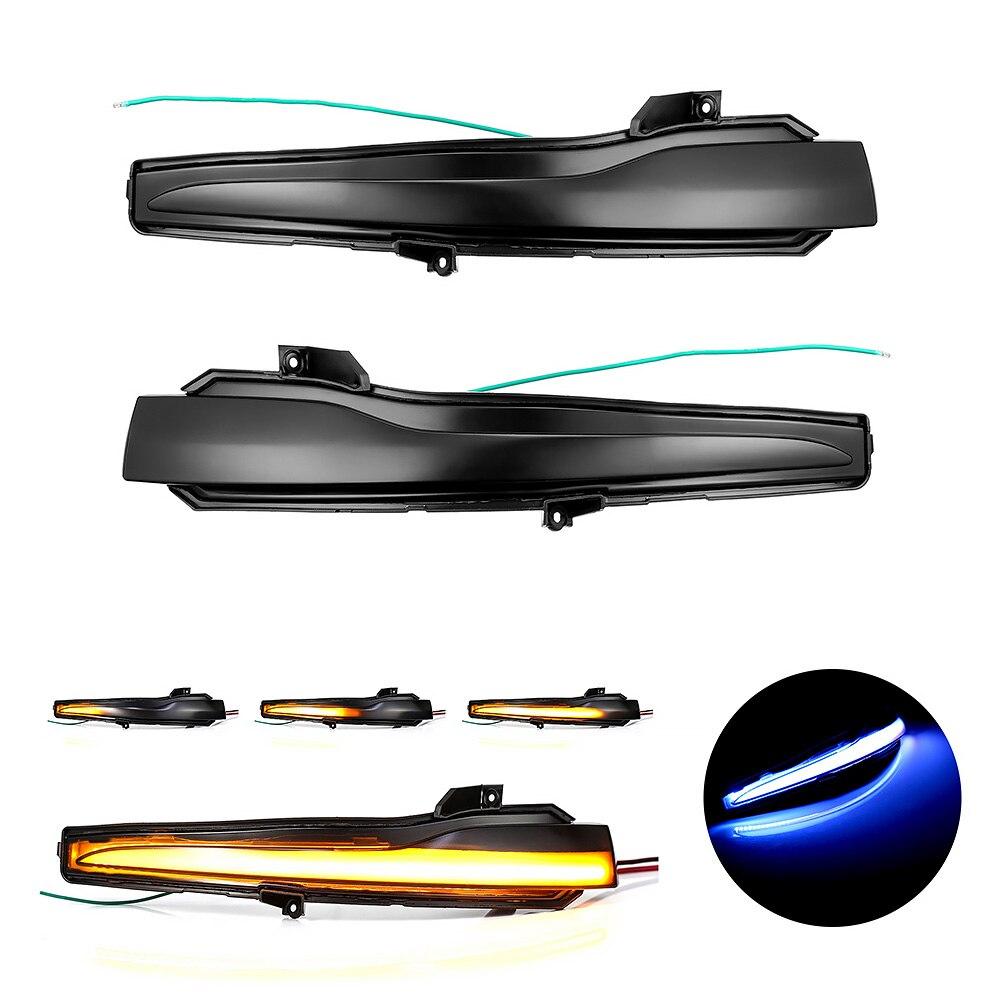 AOTOGO 2 pièces LED Dynamique Clignotant Pour Benz W205 W213 Pour Mercedes Benz C E S Classe GLC Voiture Rétroviseur Indicateur
