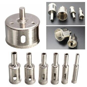 цена на 10pcs Diamond Coated Core Drill Bit Set Tile Marble Glass Ceramic Porcelain Hole Saw Drilling For Power Tools Tiling 6mm-30mm