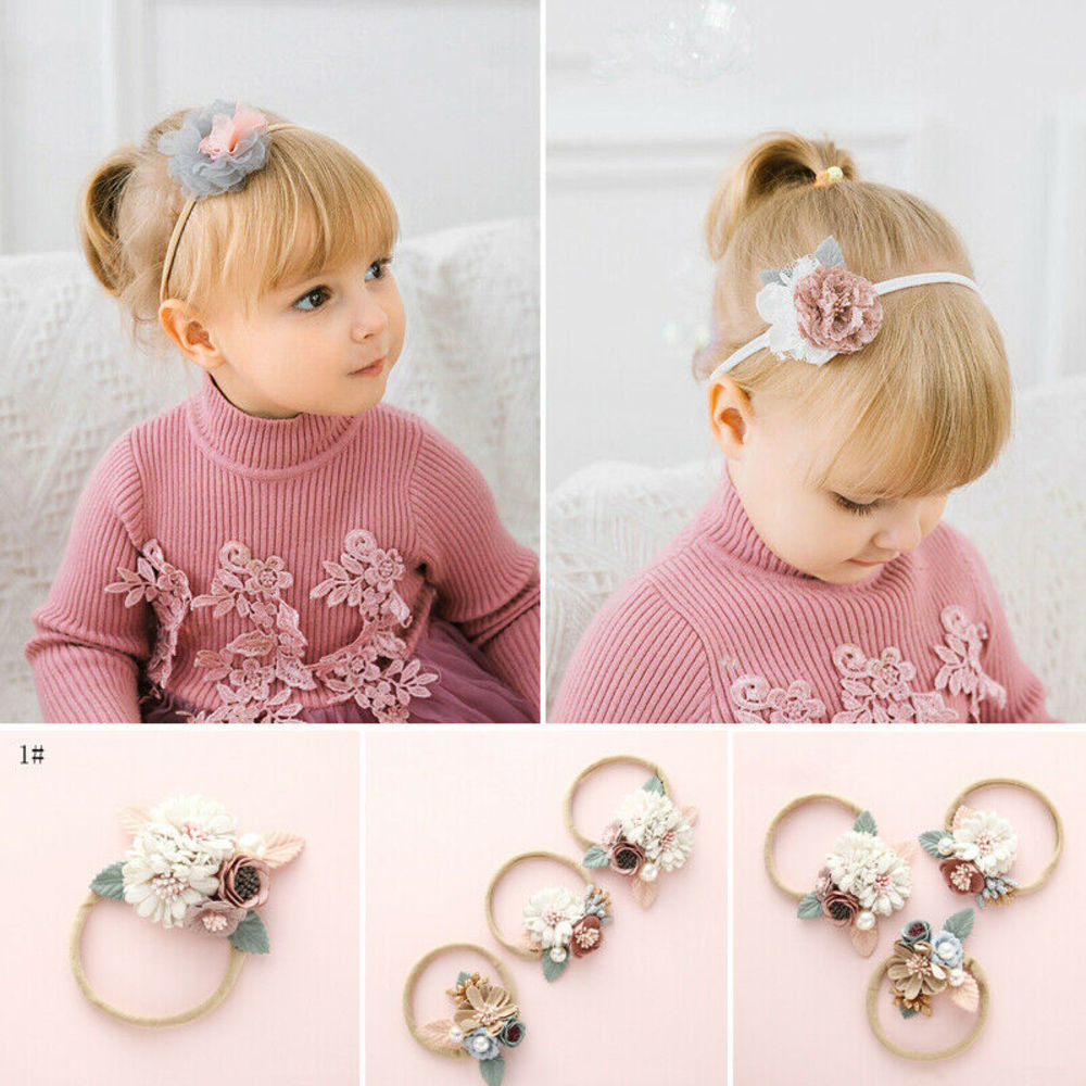 Girls Baby Toddler Princess <font><b>Fllower</b></font> Headband Hair Band Accessories Headwear New image