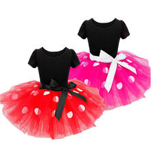 Baby Girl Minnie Mouse Clothing mini Falda Toddler Polka Kid Summer Party Tulle Dress Mickey Clothes Child Frock 6M-6Years(China)