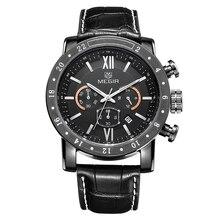 MEGIR Fashion watch for Men's Multi-Function Watch Fashion Waterproof Luminous Quartz Men's Watch 3008 все цены