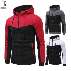 Image 3 - Manoswe Classic Colorblock Drawstring Design Mens Casual Hooded Sports Suit New Autumn & Winter Pockets Oversize 3XL Hoodie