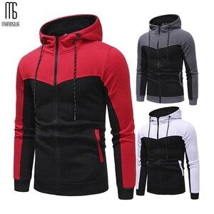 Image 3 - Manoswe costume de sport pour hommes, cordon de serrage, modèle classique, bloc de couleur, décontracté, nouveau Design, poches automne et hiver, grande taille 3XL