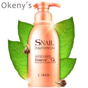 LAIKOU Moist To Skin Silky Remove Dry Lines Snail Body Lotion Moisturizing No Gooey Body Cream Skin Care 250g(China)