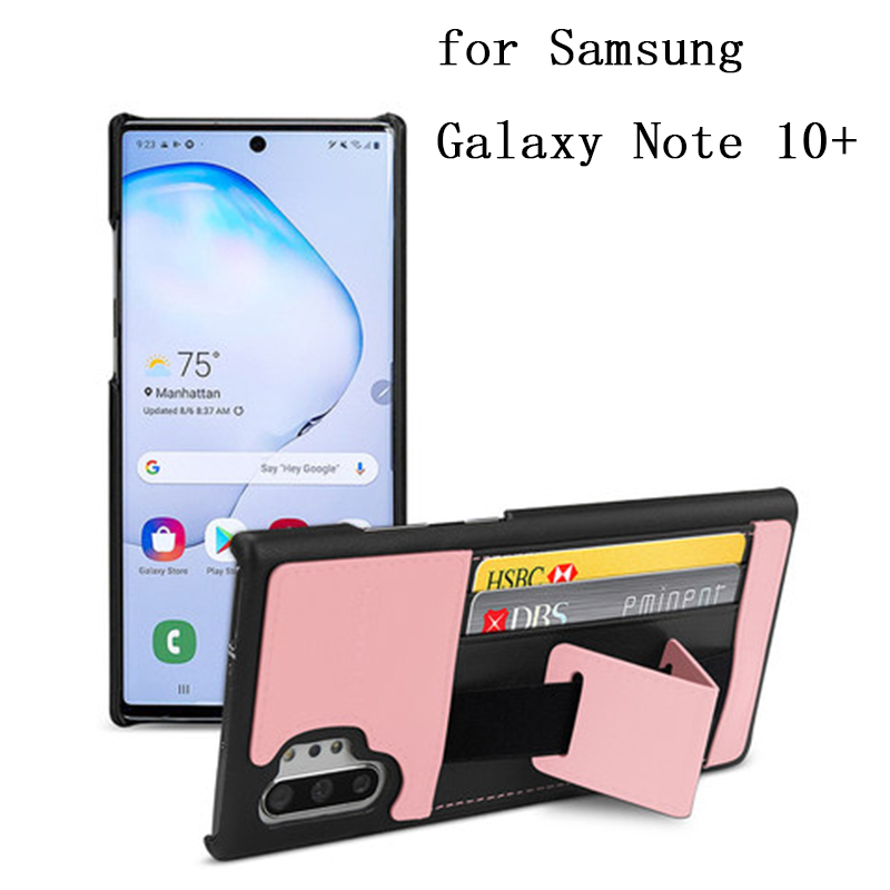 Multi-function Genuine Cow Leather Cover Bag for Samsung Galaxy Note 10 Plus Case Wallet with Card Slots Flip Shell Note 10+