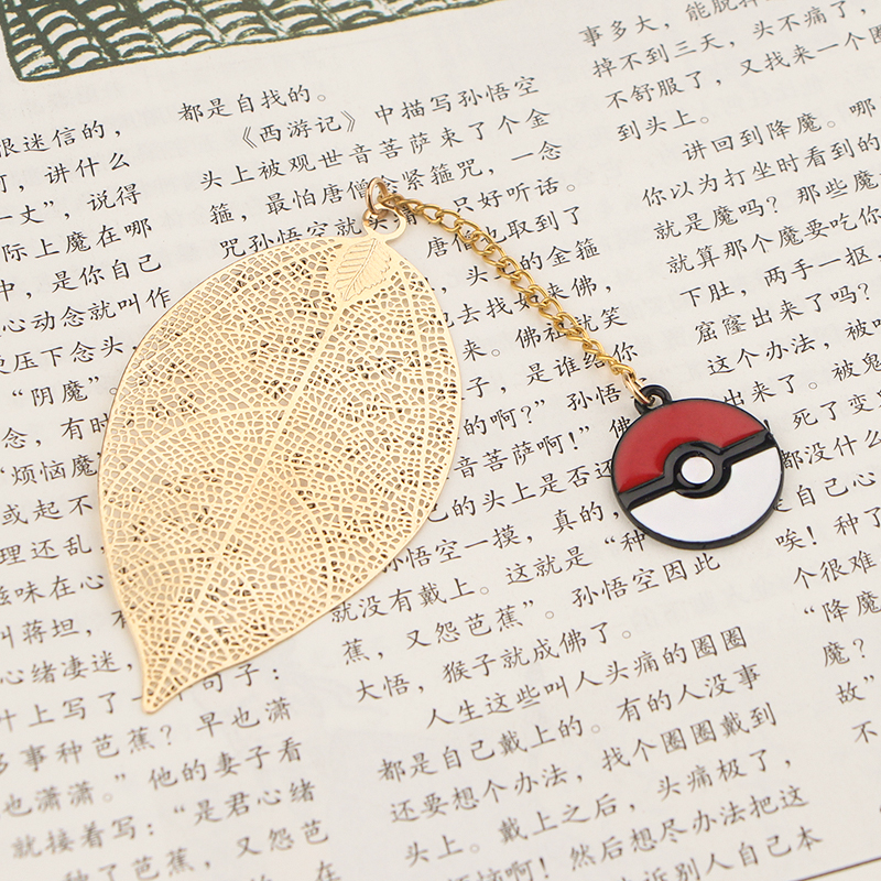 CA785 Elf Metal Bookmarks For Books Cartoon Leaf Context Chain Bookmarks Office Accessories School Stationery Items