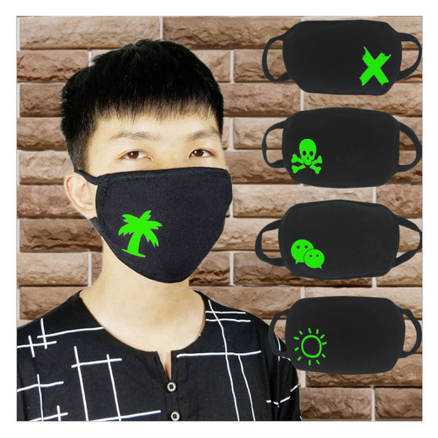 2pcs a lot Cotton Black mouth Mask Custom Printing LOGO mask filter Windproof Mouth-muffle bacteria proof Flu Face masks Care 3