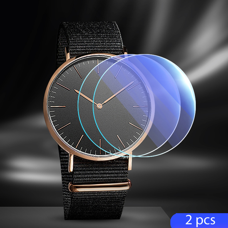 Tempered Glass For Watch 26mm 28mm 30mm 32mm 34mm 36mm 38mm 40mm Protective Protectors Watch Accessories
