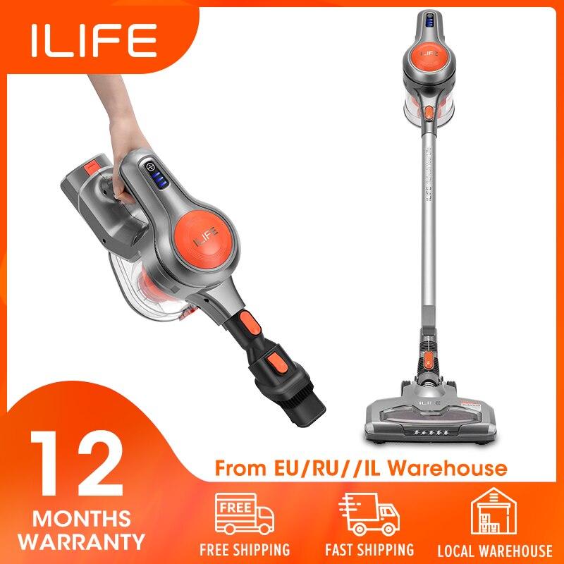 ILIFE Stick-Aspirator Vacuum-Cleaner Cordless Handheld New-Arrival 21000pa Dustbin Big